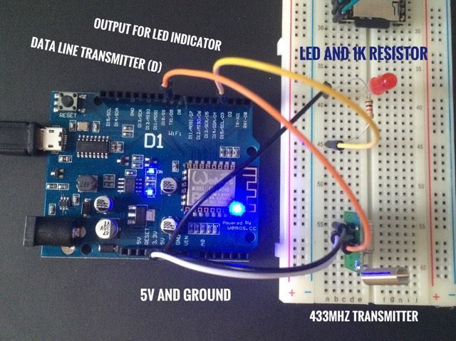 Controlling cheap 433MHz Switch units with Wemos D1 and