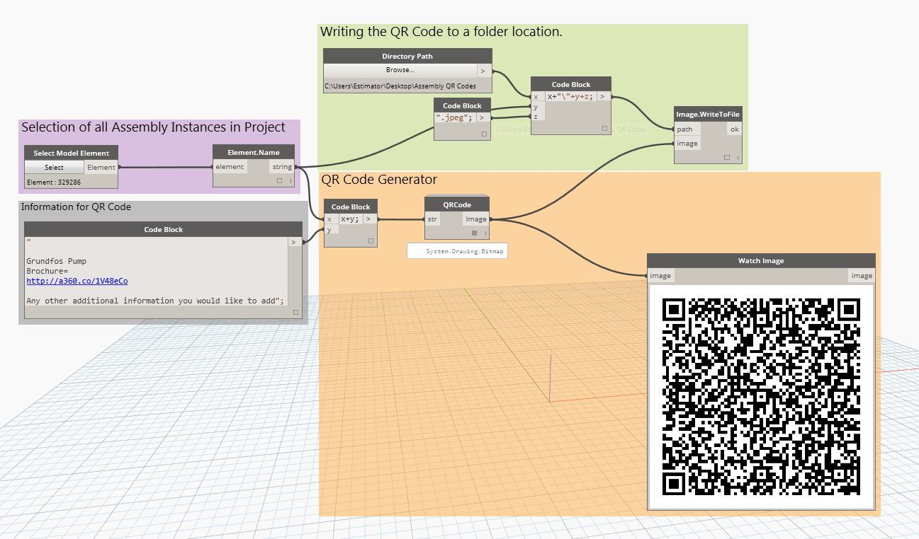 Attaching data to QR codes generated in Dynamo - Revit - Dynamo