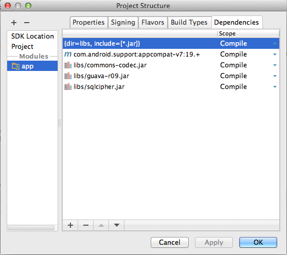 Android Studio Integration - SQLCipher FAQ - Zetetic