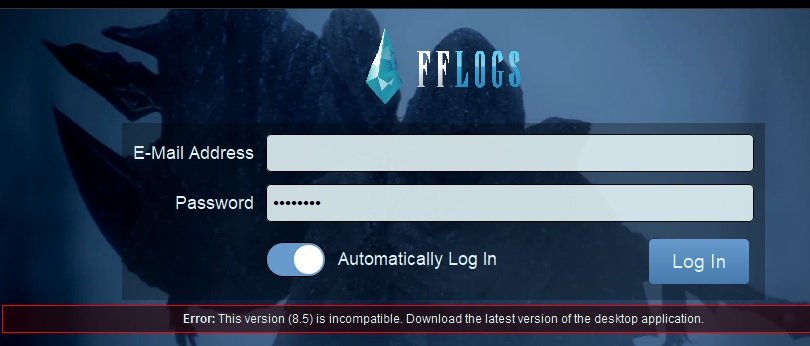 Madison : Fflogs uploader error
