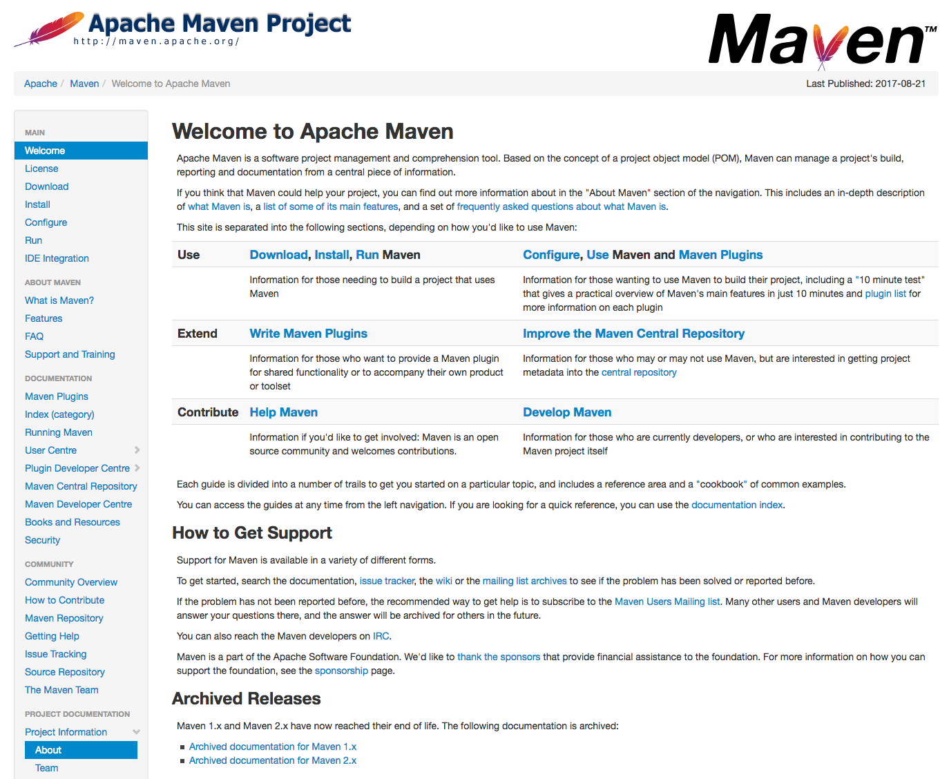 Jobs - Redesign Maven website