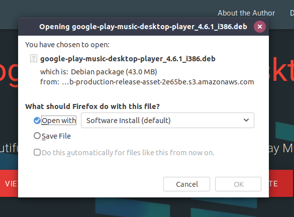 Google Play Music desktop player is